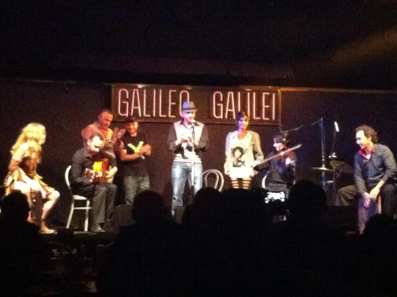 My first concert in Madrid with Guillermo Garcia  + band in Theatre