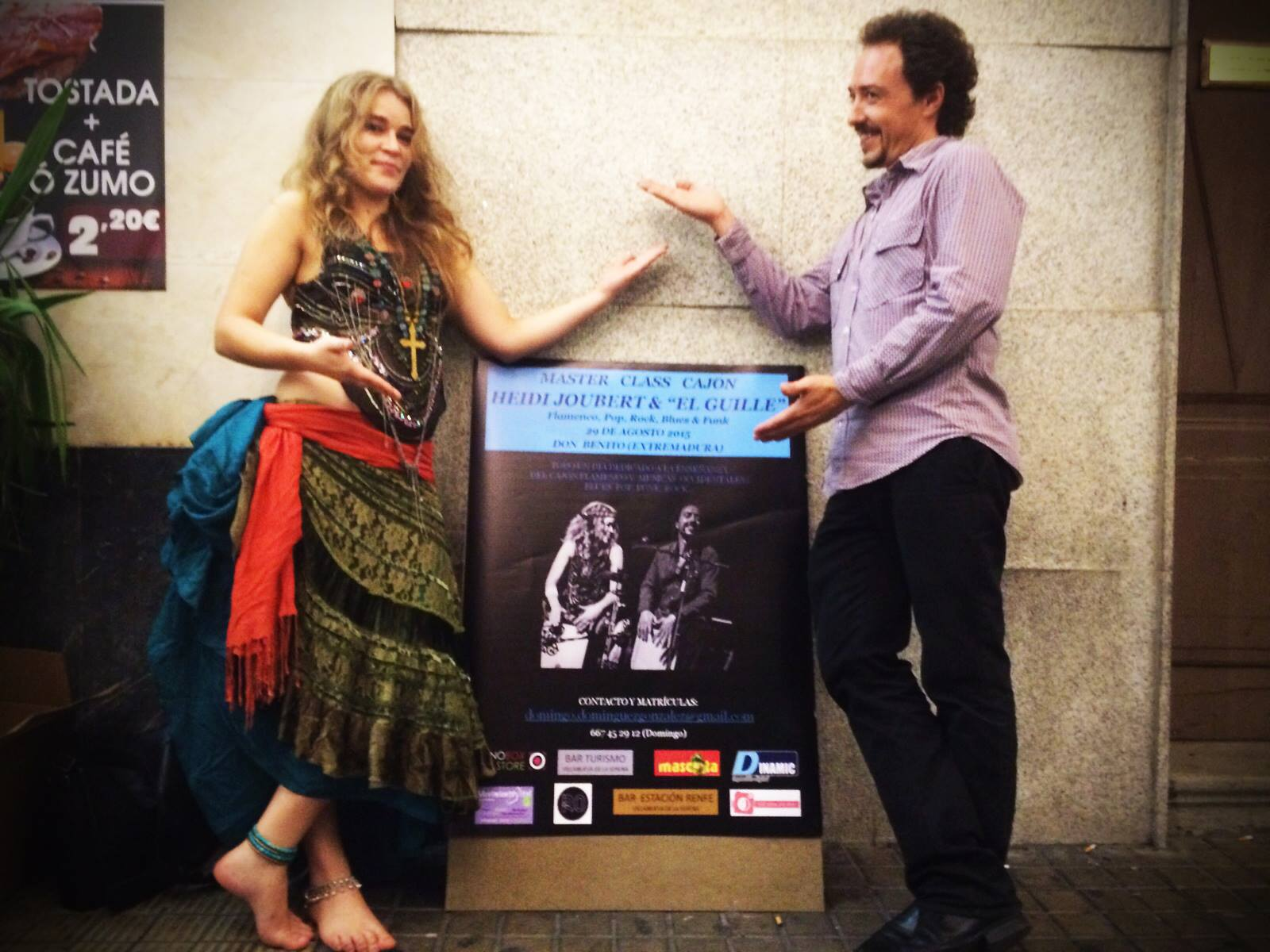 Cajon Duet video – Heidi Joubert & Guillermo Garcia